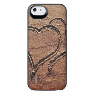 Hearts in the Sand iPhone SE/5/5s Battery Case