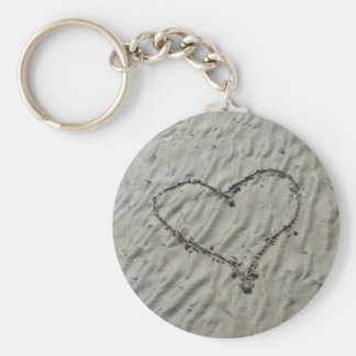 Hearts in the Sand Ripples Keychain