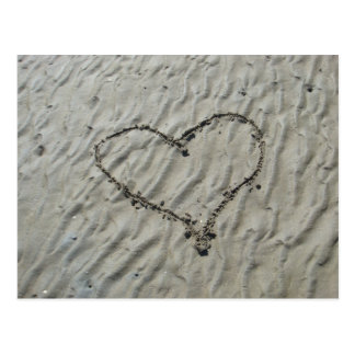 Hearts in the Sand Ripples Postcard
