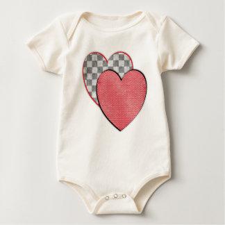 Hearts Infant Organic Creeper