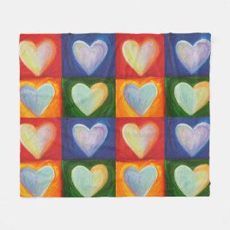 Hearts Inspirational Custom Fleece Throw Blanket