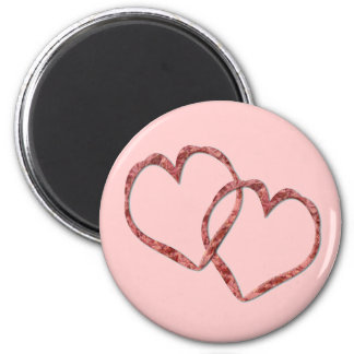 Hearts Intertwined - Customized 2 Inch Round Magnet