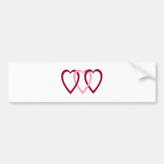 Hearts Intwined Car Bumper Sticker