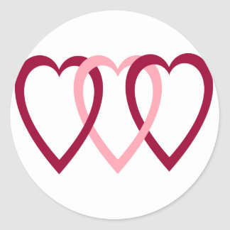 Hearts Intwined Classic Round Sticker