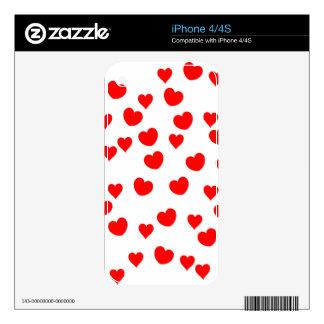 Hearts iPhone 4S Skin