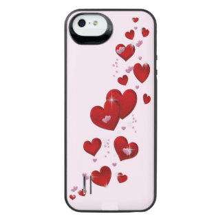 Hearts iPhone 5/5S battery case Uncommon Power Gallery™ iPhone 5 Battery Case
