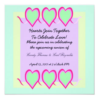 Hearts Join Together Invitation