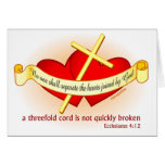 Hearts joined by God Christian gift Greeting Card