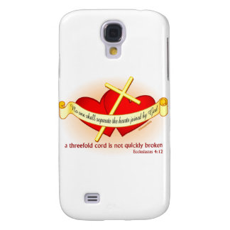 Hearts joined by God Christian gift Samsung Galaxy S4 Case