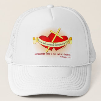 Hearts joined by God Christian gift Trucker Hat