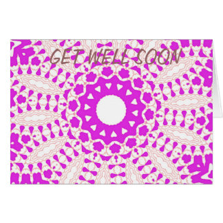 Hearts kaleidoscope Art Card