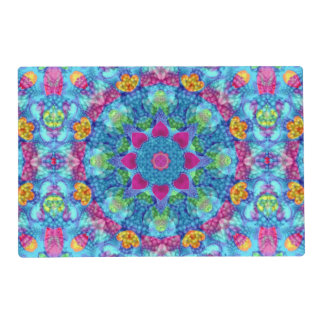 Hearts Kaleidoscope Colorful Placemats