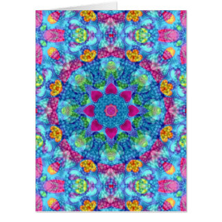 Hearts Kaleidoscope   Giant Greeting Cards