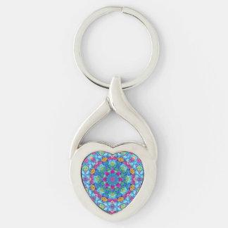 Hearts Kaleidoscope  Metal Keychains, 4 shapes Keychain
