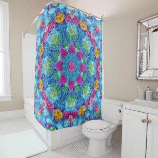 hearts vintage shower curtain