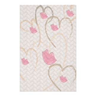 Hearts Kisses and Lace Stationary Stationery Design