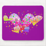 Hearts (love, amour 爱)  A3 Mouse Pad