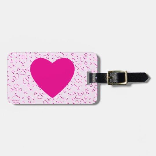 Hearts Love And Kisses Bag Tag