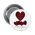 Hearts Love Button