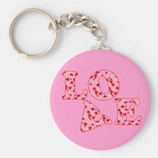 HEARTS LOVE by SHARON SHARPE Keychain