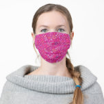 Hearts Love Collage Pattern Pink Fuchsia Magenta Cloth Face Mask