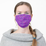 Hearts Love Collage Pattern Purple Violet Pink Cloth Face Mask
