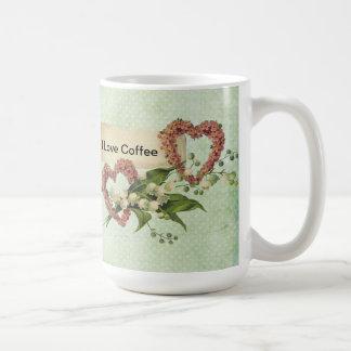 Hearts Love Label Coffee Mug