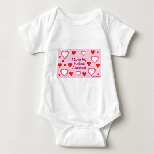 Hearts: Love My Medical Assistant Baby Bodysuit