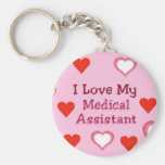 Hearts: Love My Medical Assistant Key Chain