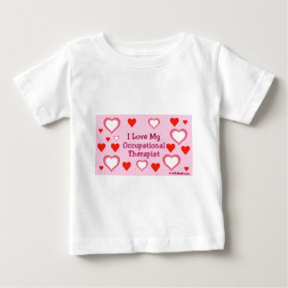 Hearts: Love My Occupational Therapist Baby T-Shirt