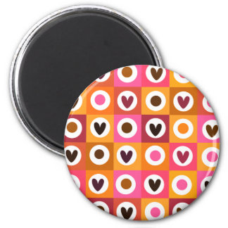 Hearts Love pattern Magnet