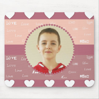 Hearts & Love Personalized Photo Frame Mousepad