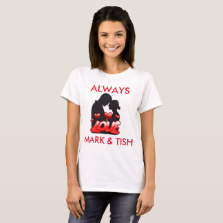 Hearts & Love Personalized Tee