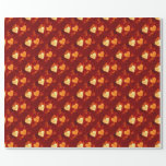 Hearts Love Red and Yellow Wrapping Paper