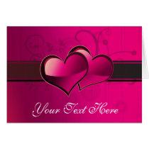 Hearts Love Theme Card