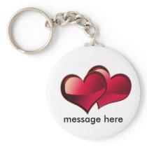 Hearts Love Theme Keychain