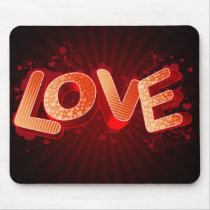 Hearts Love Theme Mouse Pad