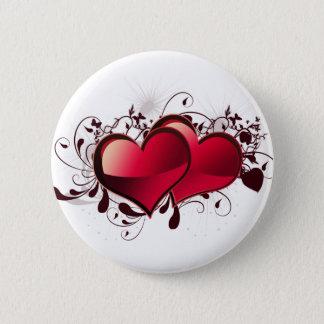 Hearts Love Theme Pinback Button