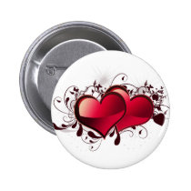 Hearts Love Theme Pinback Button