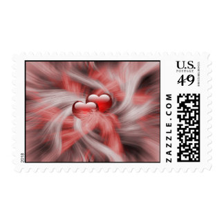 Hearts Love Theme Postage