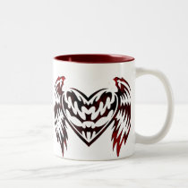 Hearts Love Theme Two-Tone Coffee Mug