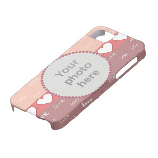 Hearts & Love Valentine iPhone5 Custom Photo Cover