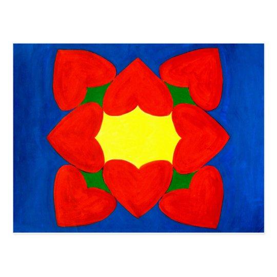 Hearts Mandala of Love Postcard