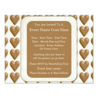 Hearts - Milk Chocolate and White Chocolate Card