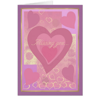 Hearts Missing You Card