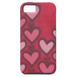 Hearts Mixed Media iPhone Case iPhone 5 Covers