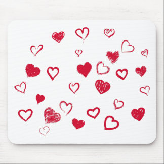 hearts mouse pad