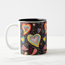 Hearts Mug - for Valentines Day, perfect for the coffee lover!