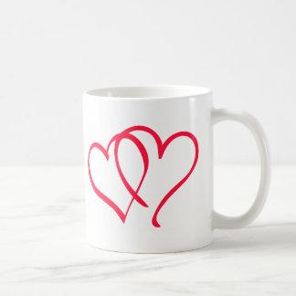 hearts coffee mugs