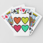 Hearts - Multi Colors Bicycle Card Deck